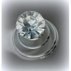 Пружинка Стразик 8мм  Цена: за 1 штуку цвет: серебро №2640.130