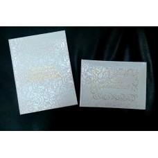Набор Папка для свидетельства о браке и книга для пожеланий Размер А4 и А5 рисунок кружево Размер А4 Цвет:белая №2700.590