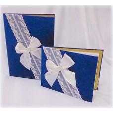 Комплект: Папка свидетельство о браке А4 и Альбом для пожеланий. Синияя SvetikFantasy A4 №271627182717.2350