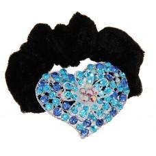 Резинка для волос Роксолана сердце 5,5х4см цвет: на выбор (розовый, серебро) №2260.72