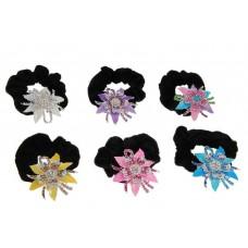 Резинка для волос Роксолана распустившийся цветок 5х6см цвет: на выбор (белый, сиреневый) №2261.72