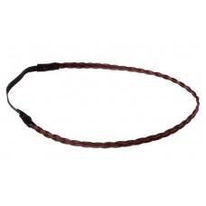 Повязка для волос косичка 25х0,8см тонкая цвет: махагон  №2264.17