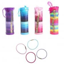 Набор резинок для волос, в тубе 50шт (простые резинки) 5,5х16см  цвет в ассортименте №2278.50