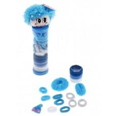 Набор резинок для волос Выбражулька туба мордочка резинки голубая (18 шт) №2282.79