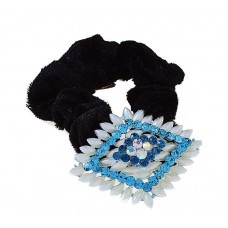 """Резинка для волос """"Прелесть"""", форма ромба, с жемчугом 5,5см цвет: на выбор (голубая, розовая) №2287.63"""