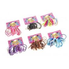 Резинка для волос простая, в ассортименте, набор 22 шт №2292.25