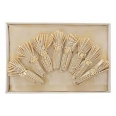 Скатерть/8 салф. VEROLLI СЕРДЦЕ золотая с кольцами 160х220 см, 100% п/э №2304.1155