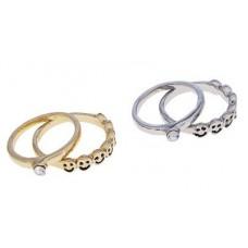 """Кольцо """"Улыбка"""", цвет золотой, размер 17,18,19 №2320.35"""