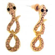 "Серьги ""Змея"", цвет золото 1,5х0,7х2,3 см №2366.42"