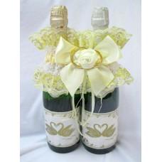 """Украшение на шампанское """"Два кольца"""" SvetikFantasy Цвет: айвори №5468.400"""