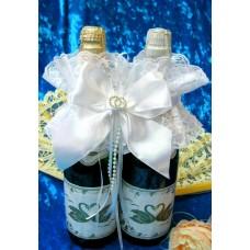 Украшение на шампанское  SvetikFantasy Цвет: белый №5472.400