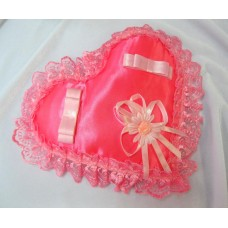 Подушечка для колец Сердце, розовая 22см №5482.120