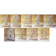 Нумерация столов от 1 до 9 №5492.945