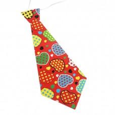 Карнавальный галстук Сердца №5653.10