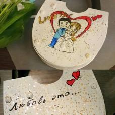 Замочек белый Love is...,  SvetikFantasy (Размер:86х132х18мм)  №5803.1000