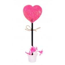 Ручка шариковая Сердце на подставке №6162