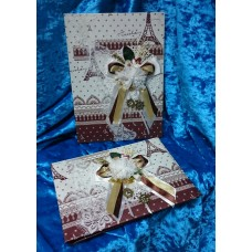 Комплект: Папка для свидетельства о браке и книга пожеланий SvetikFantasy №6370