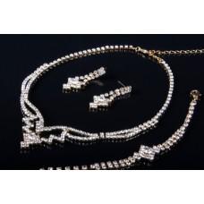 Комплект бижутерии  (кулон, серьги, браслет) №6448