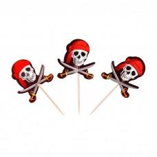 Шпажки для канапе Череп Пирата