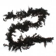 Карнавальный шарф-перо черный