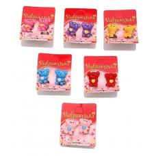 """Клипсы детские """"Выбражулька"""" мишка с сердцем, цвета в ассортименте №1234.10"""