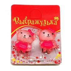 """Клипсы детские """"Выбражулька"""" мишка №1235.10"""