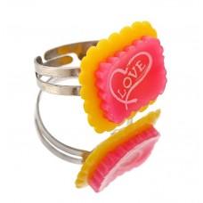 """Кольцо детское """"Выбражулька"""" LOVE, цвета в ассортименте №1236.40"""