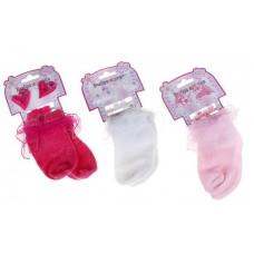"""Набор для девочек """"Выбражулька: Сердечки"""": носки-кружева - 10 см , 2 резинки, 4 краба,  цвет в ассортименте №1315.64"""