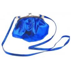 "Сумочка  ""Милли"" с ремешком, синяя  17х16,5 см №1368.117"