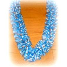 Лента на капот галочка  атлас цвет: голубой (ширина 19см) №90_3.224