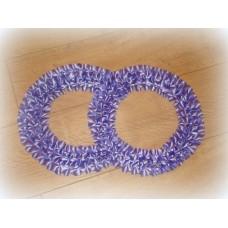 Два кольца для украшения машины атлас цвет: сиреневый №552.101