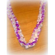Лента для украшения спираль, атлас, 3 метра, цвет: бело/фиолетовая №564.201