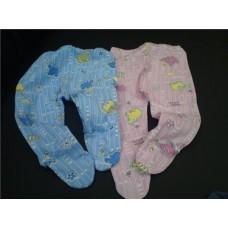 Ползунки  цвета: голубые, розовые размер:56см №4