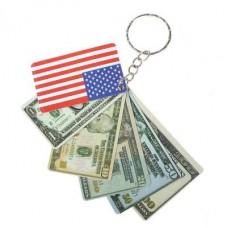 """Брелок """"Веер из долларов"""" Размер: 6,5х4 см №415664233.12"""