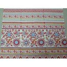 Рушник х/б машинная вышивка цвет: белый с цветным Размер: 180х44см №59.733