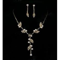 Комплект бижутерии  (колье серьги) цвет золото №154.225