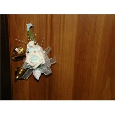 "Букетик на ручку двери  ""SvetikFantasy"" голубой  Цена за 1 штуку №51.96"