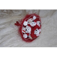 Букетик-Милашка (Мышки, розы, конфетки) №1.900