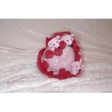 Букетик-Милашка (Сердечко, мышки, цветочки) №6.675