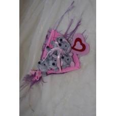 Букетик-Милашка (Мышки, сердечко) №7.675