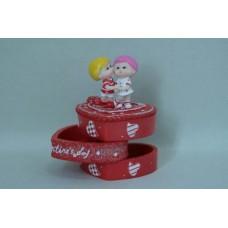 Сувенир шкатулка для колец сердце с детьми (60662) №106.225