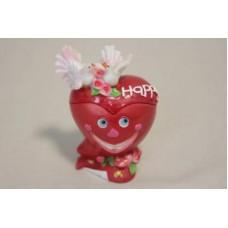 Сувенир шкатулка сердце с голубями для колец (84228) №92.120
