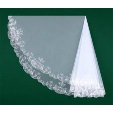 Фата вышитая белая, айвори Размер : 1,5метра №417.700