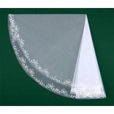 Фата вышитая белая Размер : 1,5метра №8545.700