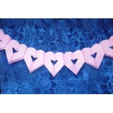 Гирлянда Сердечки розовая 18х17см длина:4м №10669876.67
