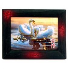 """Картина """"Лебеди с малышами"""", 19х25 см №1"""