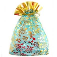 Мешочек для лепестков, конфетти, сувениров, подарков и т.п. голубой, 17х23 см №11.15