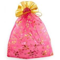 Мешочек для лепестков, конфетти, сувениров, подарков и т.п. малиновый, 23х30 см №15.20