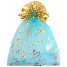 Мешочек для лепестков, конфетти, сувениров, подарков и т.п. голубой, 23х30 см №16.20