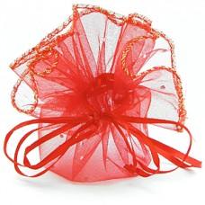 Мешочек для лепестков, конфетти, сувениров, подарков и т.п. красный, 12 см №18.7